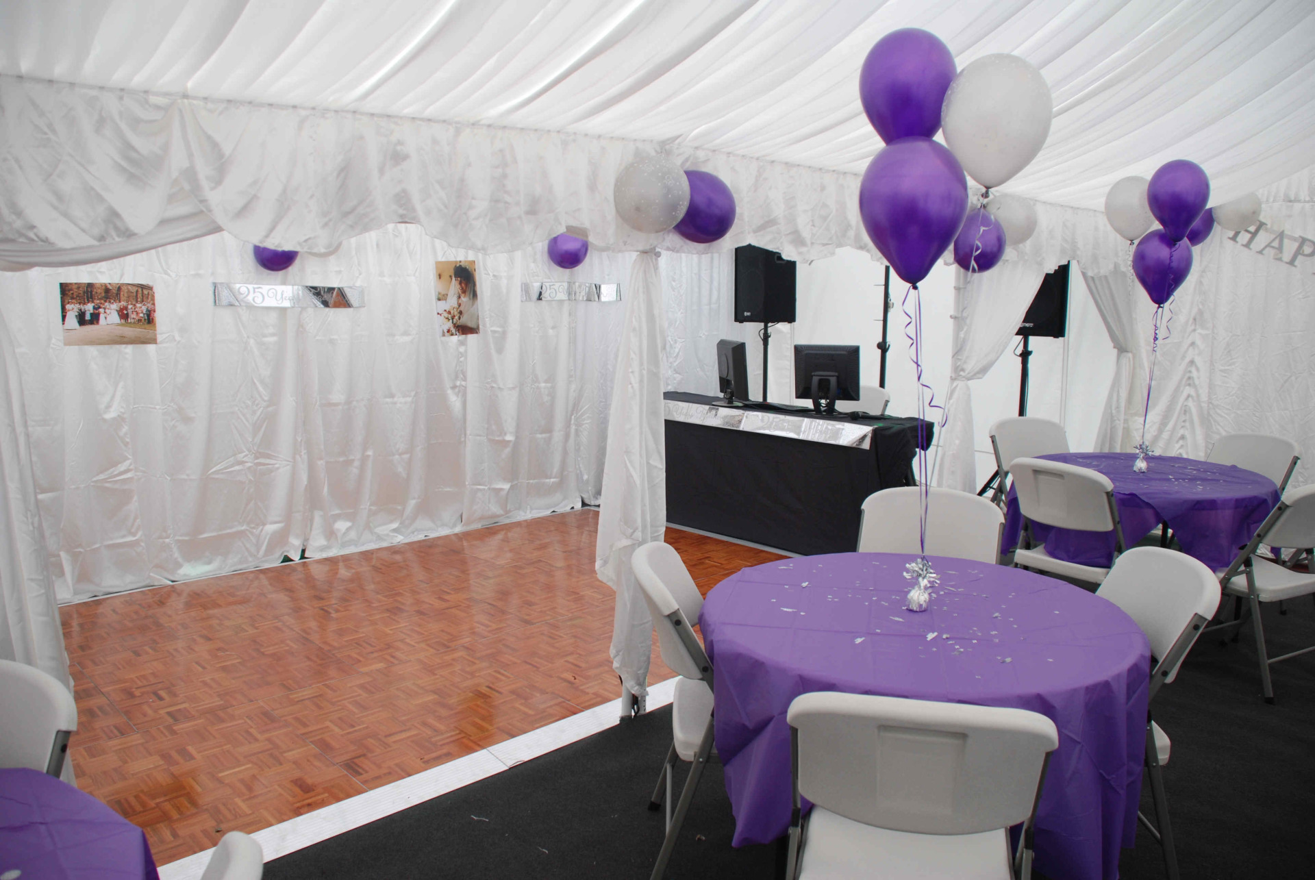 4m x 10m marquee with dancefloor