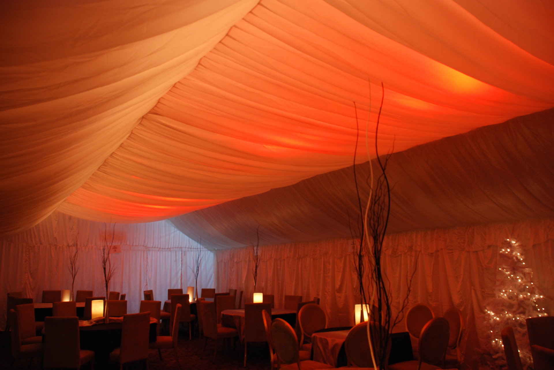6m x 12m marquee with roof lining